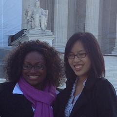 Jennifer Tran (right) & classmate