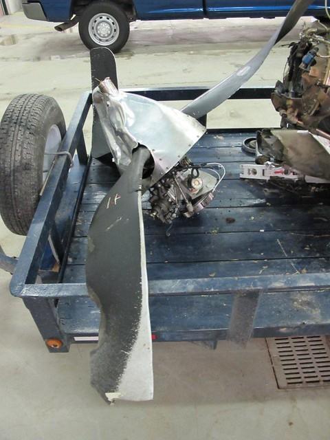 L'hélice du Cessna 208 qui s'est écrasé à Snow Lake (Manitoba)