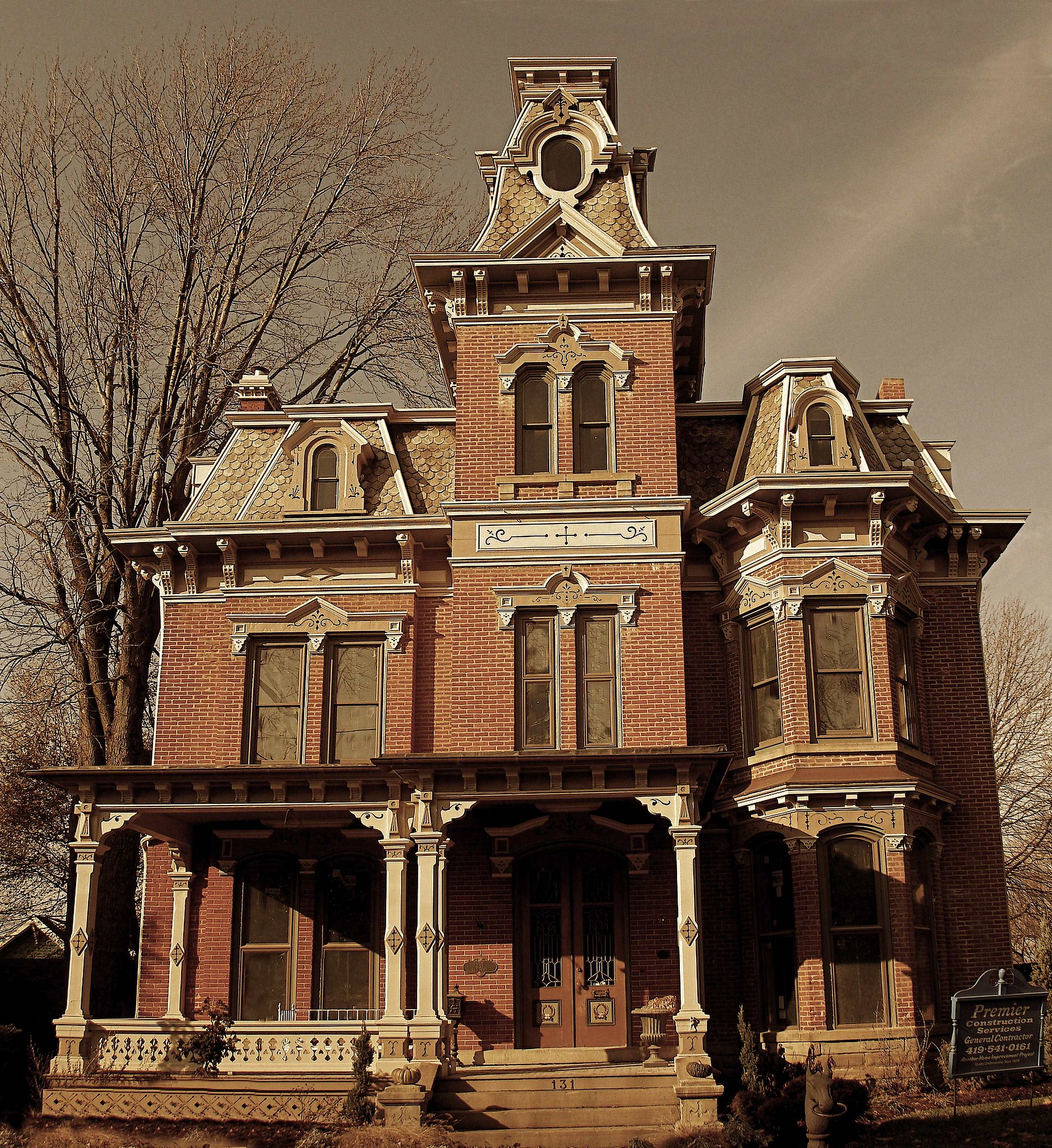 Norwalk oh second empire house i posted the detail for Building a home in ohio