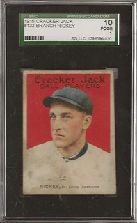 1915 Cracker Jack rickey HOF 133