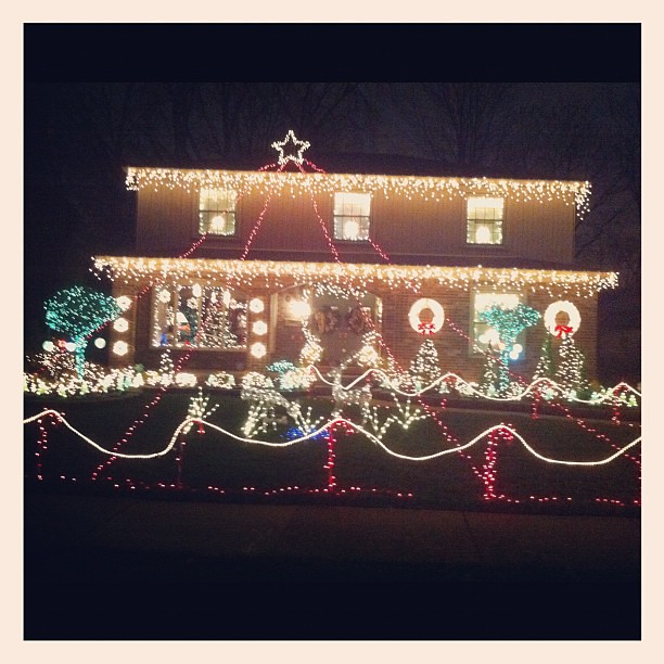 Went to look at Christmas lights tonight.  This is what Alex wants next year #timetoupourgame