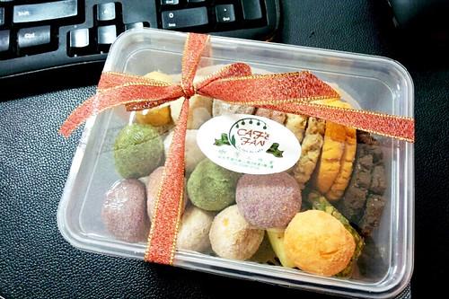 悅夢床墊謝謝莊小姐的手工餅乾 ^^