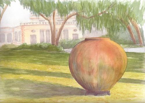 watercolor landscape workshop process sapelo