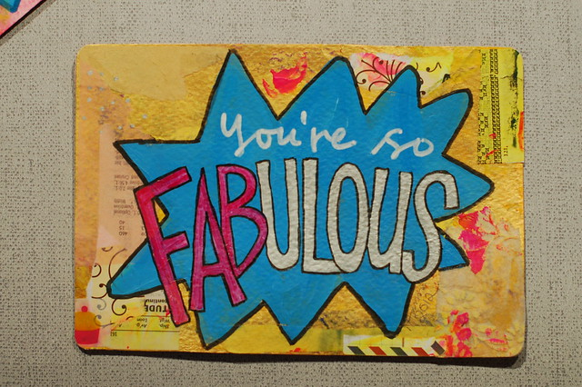 Postcard: You're so Fabulous  by @iHanna .- made for the #Diypostcardswap