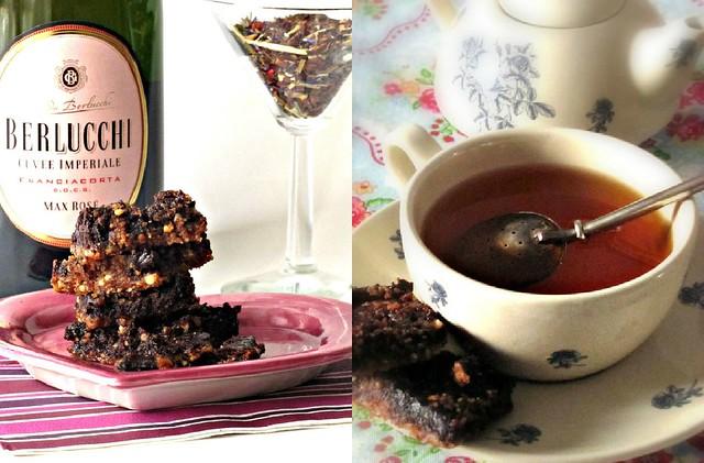 Quadratini di Linz al Caffè e Cioccolato