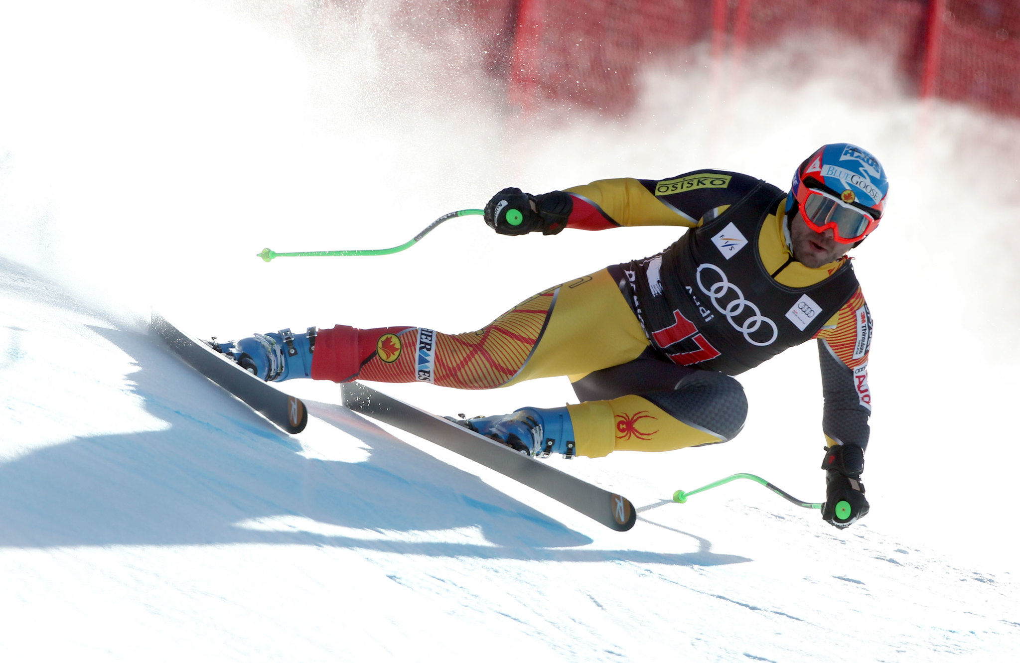 Jan Hudec during men's downhill training in Beaver Creek.