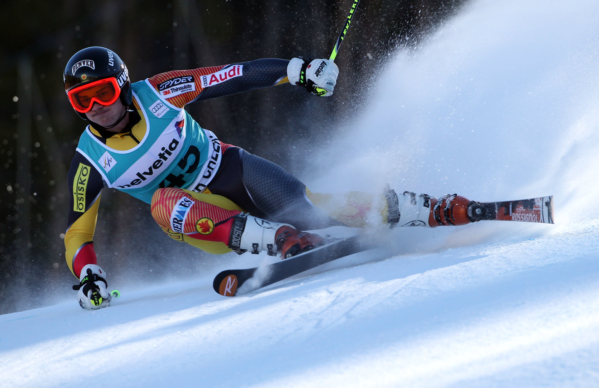 Trevor Philp in action in the Beaver Creek World Cup giant slalom.