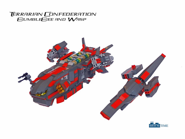 Dropship and Fighter