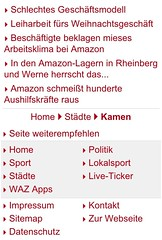 altes Mobilportal m.derwesten.de: Artikelende/Seitenfuß