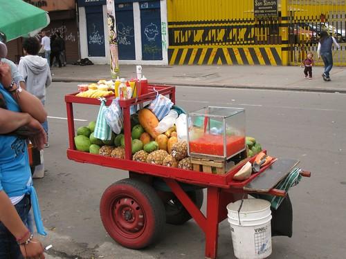 Bogota fruit cart