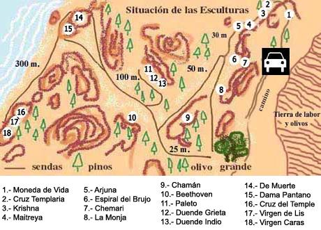 Mapa del sendero de la ruta de las caras, cortesía de www.rutadelascaras.com Ruta de las Caras, arte y naturaleza fundidos en un abrazo común - 8248558861 95da338d01 o - Ruta de las Caras, arte y naturaleza fundidos en un abrazo común