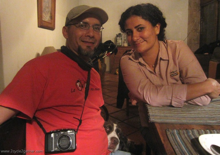 Bernardo & Margarita (of Casa Ciclista), Dinner in Guadalajara at Marina's House