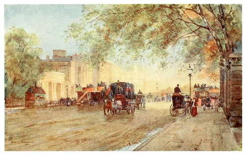 023-Hyde Park Corner- The scenery of London- 1905-Herbert Marshall
