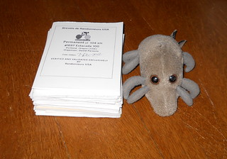 Dust Mite and a very tall stack of brevet cards