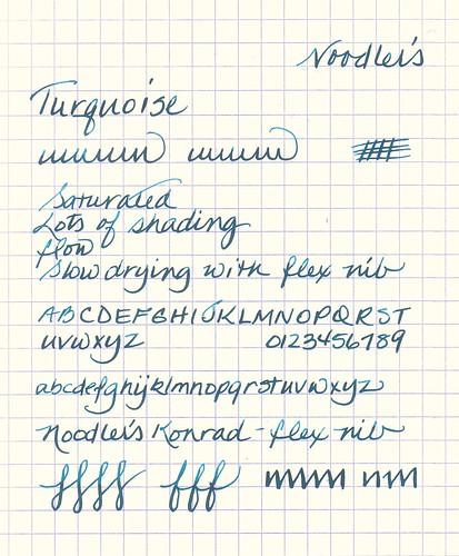 Noodler's Turquoise Ink