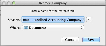 mac step 2 - restore quickbooks file for landlords