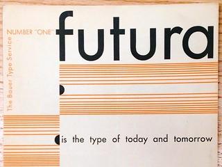 Futura type specimen brocure