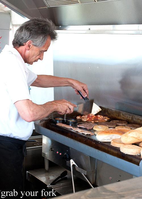 george papas at step-a-side diner cabramatta