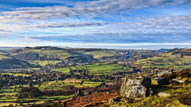 0325 - England, Peak District, Curbar Edge HDR