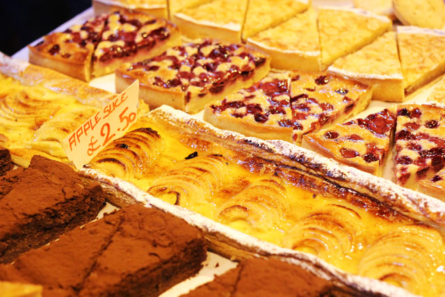 Cakes and pastries at Borough Market
