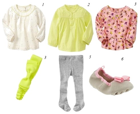 baby clothing girls - cute tops with tights