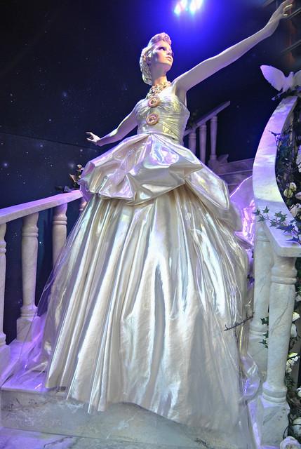 Harrods Disney Cinderella High Heel Glitter Slippers Shoes