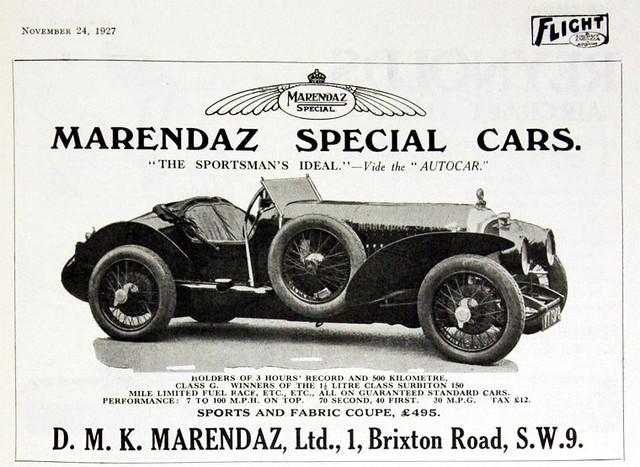 1927 Marendaz Special ad
