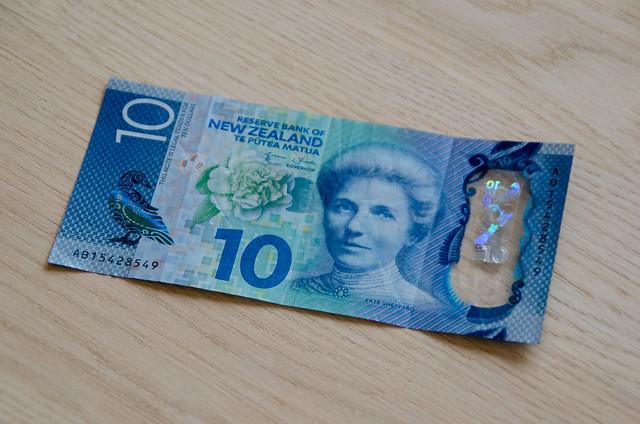 新ニュージーランド10ドル札 New New Zealand $10 note