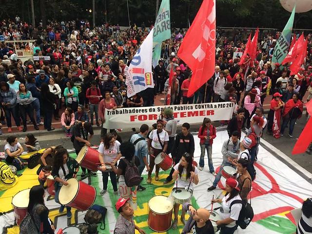 Los trabajadores contra el desmonte del servicio público - Créditos: Foto: Rute Pina