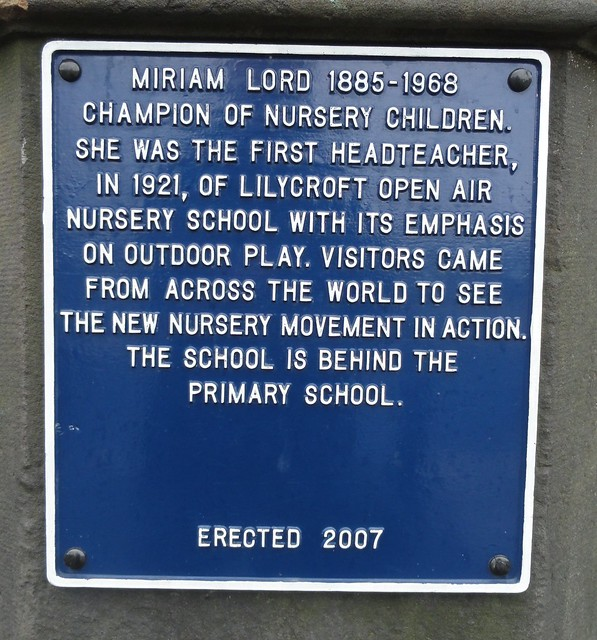 Photo of Miriam Lord blue plaque