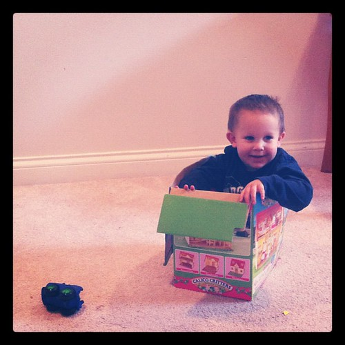 Boy in a box.