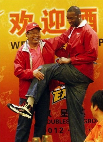 October 25th, 2012 - Tracy McGrady shows off the new shoes gifted to him by the company that owns his new team