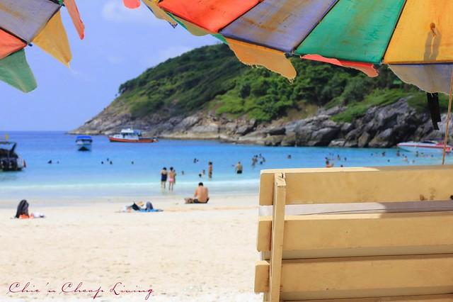 Raya Island beach umbrellas view by Chic n Cheap Living