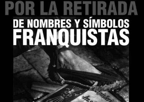 Por la retirada de símbolos franquistas de Porcuna