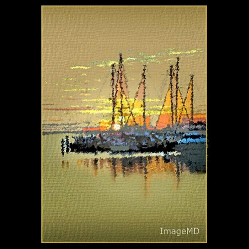 sailboat sunrise florida miami hdr coconutgrove oligotone