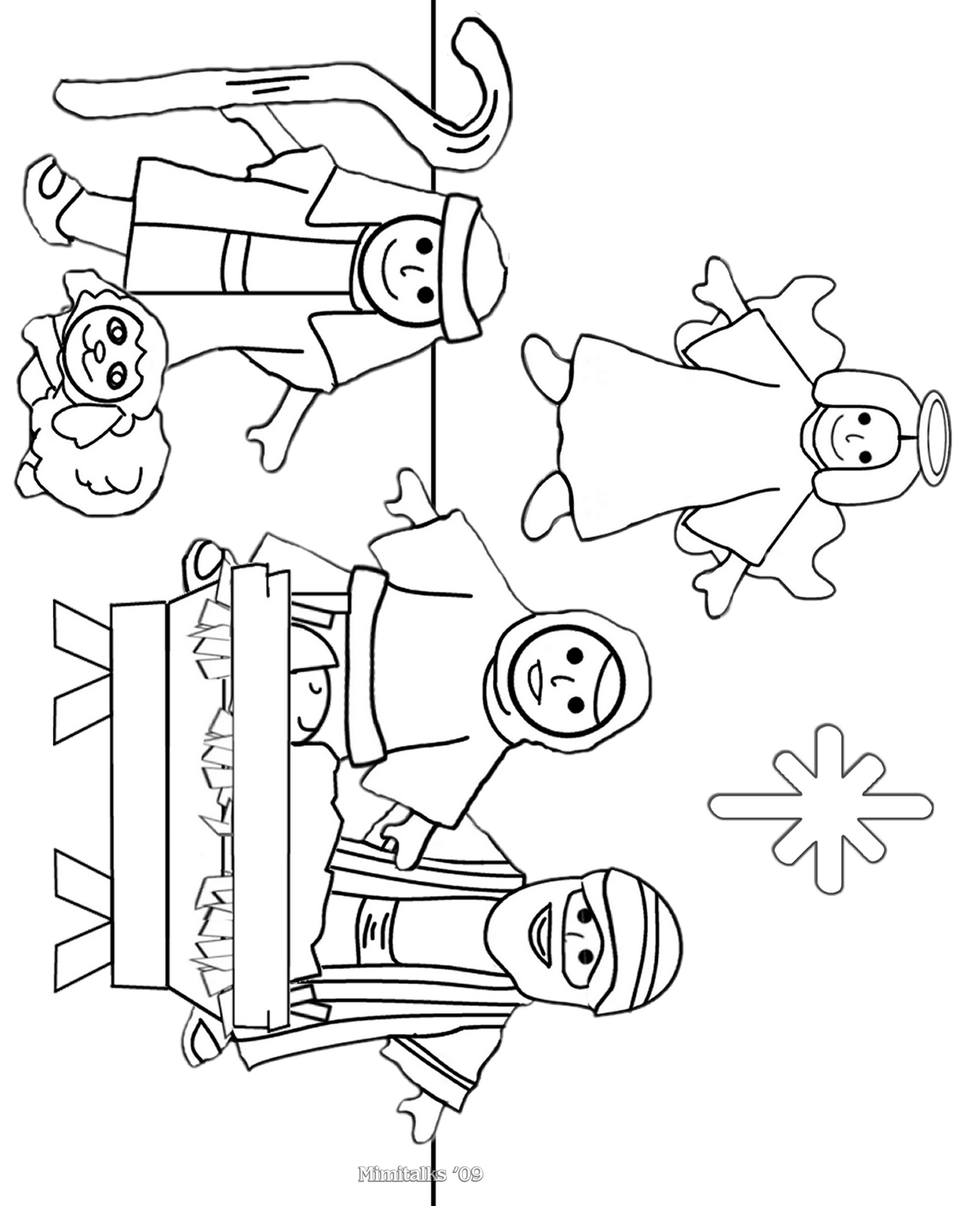 childrens nativity coloring pages - photo#19