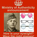 MOA Poster: Glasses by Ministry of Authenticity