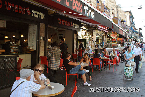 While we shopped round the market, some like our guide, Michael, sat down and chill at a cafe