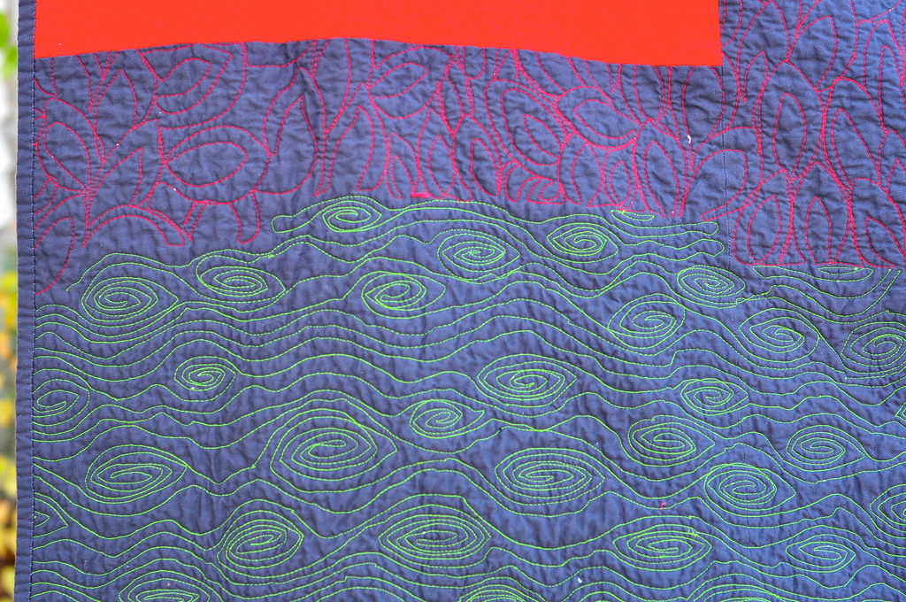 Google quilt - back quilting detail