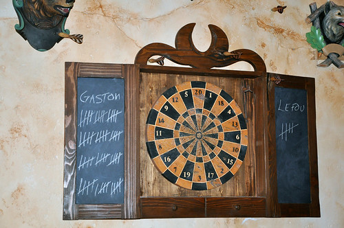 Closeup of dartboard