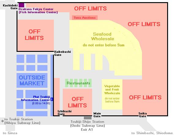a basic map pf tsukiji market - rebeccasawblog