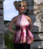 AMD Esme mesh top (Retro Pink), Hair by Amacci (Mai)