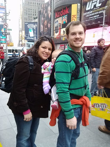 times square family pic