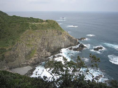 blue sea green rock landscape waves cape kochi seacoast