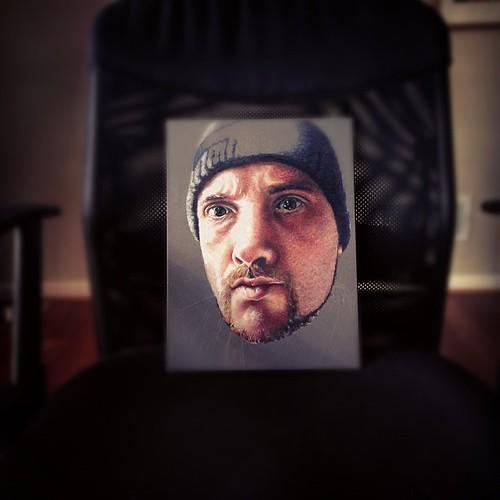 In progress colored pencil portrait of myself.