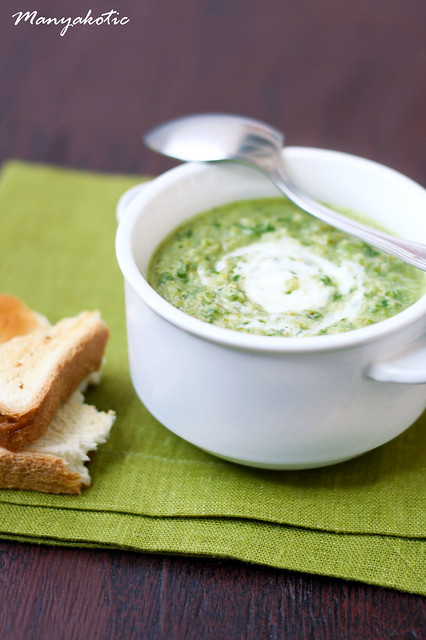 Broccoli and rocket soup