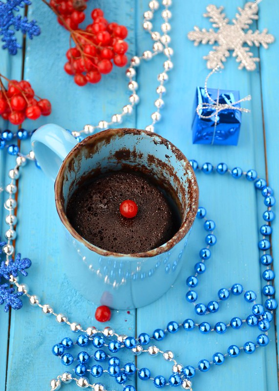шоколадный кекс в кружке.2