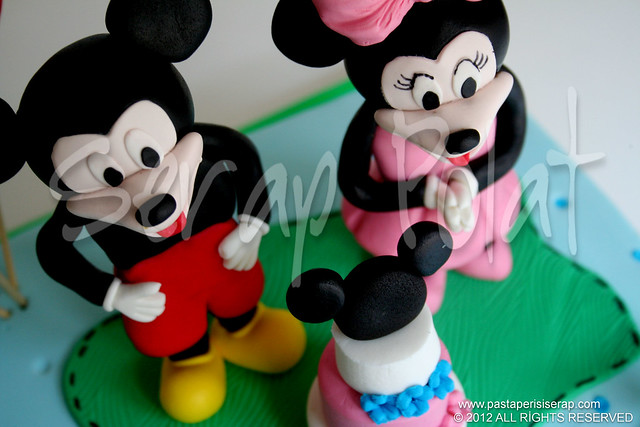 Mickey & Minnie mouse pastası