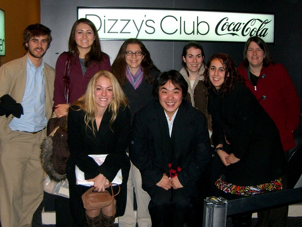 With my college jazz studies class in New York