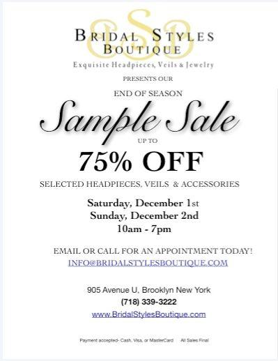 Bridal Styles 2012 Sample Sale